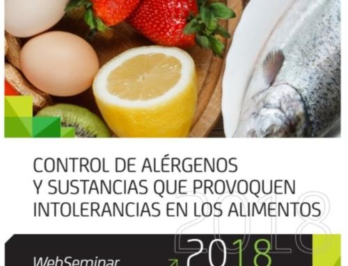 """WebSeminar """"Control de alérgenos y sustancias que provoquen intolerancias en los alimentos"""""""