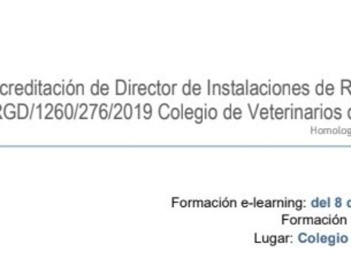 Curso de Acreditación de Director de Instalaciones de Radiodiagnóstico Colegio de Veterinarios de Salamanca (Semipresencial)