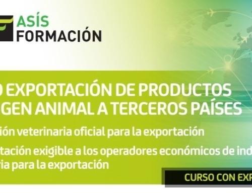 CURSO ONLINE: EXPORTACIÓN DE PRODUCTOS DE ORIGEN ANIMAL A TERCEROS PAÍSES.