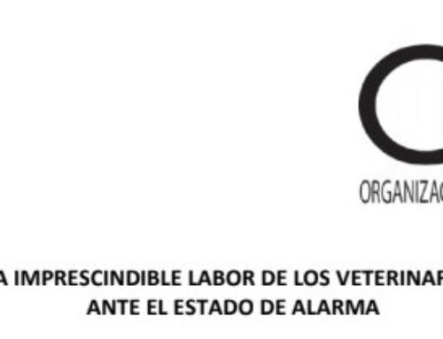 Comunicación del Presidente del Consejo General de Colegios Veterinarios de España