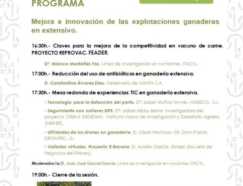 """Jornada online """"ORIENTACIONES PARA UNA GANADERÍA EXTENSIVA MÁS COMPETITIVA E INNOVADORA"""""""