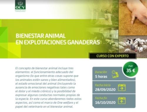 """CURSO ONLINE: """"BIENESTAR ANIMAL EN EXPLOTACIONES GANADERAS"""""""